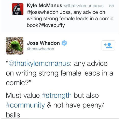 Josh Whedon's Tweet
